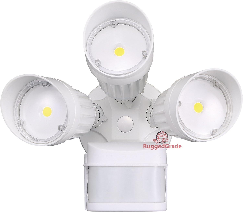 30 Watt LED Motion Sensor Flood Light White Color 2,600 Lumen Super Wide 240 Degree Motion Sensor 3000K Warm White 20 Yr – LED Motion Flood Light – LED Motion Sensor Light Outdoor