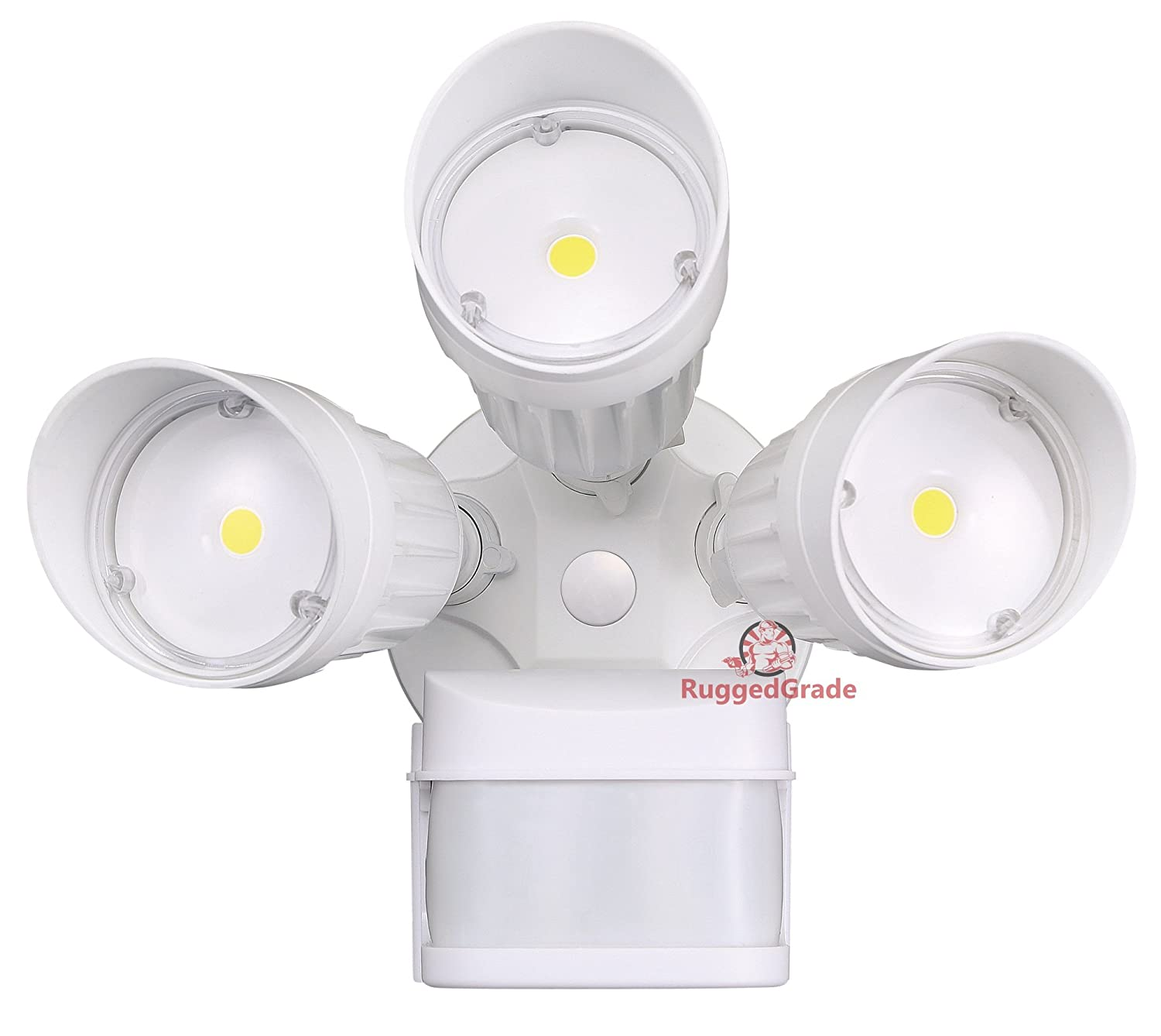 30 Watt LED Motion Sensor Flood Light White Color 2,600 Lumen Super Wide 240 Degree Motion Sensor 5000K Bright White 20yr – LED Motion Flood Light – LED Motion Sensor Light Outdoor