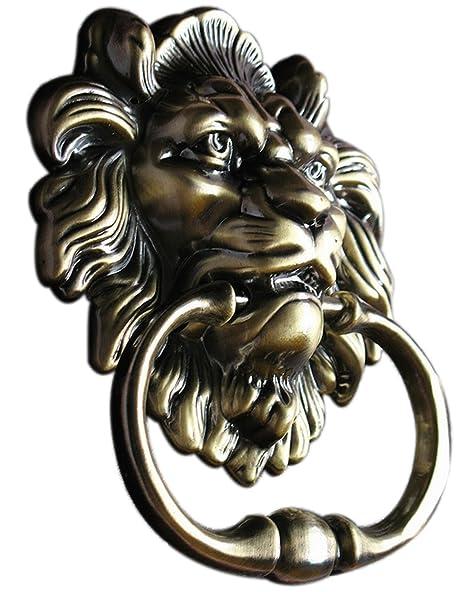 Door Knocker Lion Head Handle Pull Antique Summershen
