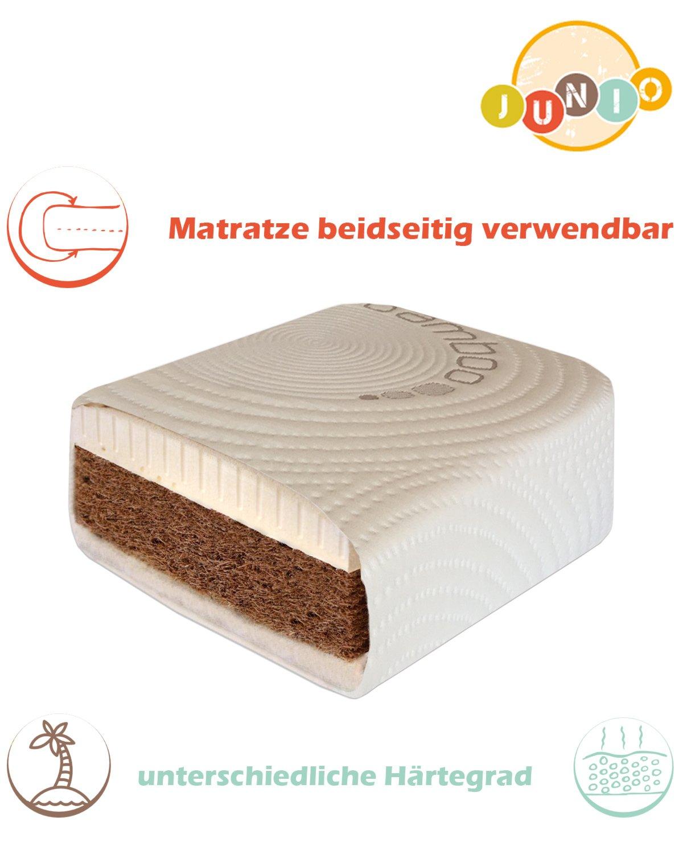 Kinder und Babymatratze Kokos Latex Junio Babybett matratze 70 x 130 x12 Кindermatratze