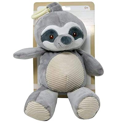 Kelly Baby Plush Sloth with Rattle Clip On Car Seat Toy: Toys & Games