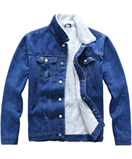 Hemlock Women Plus Size Denim Jacket Faux Fur Denim Cardigan ...