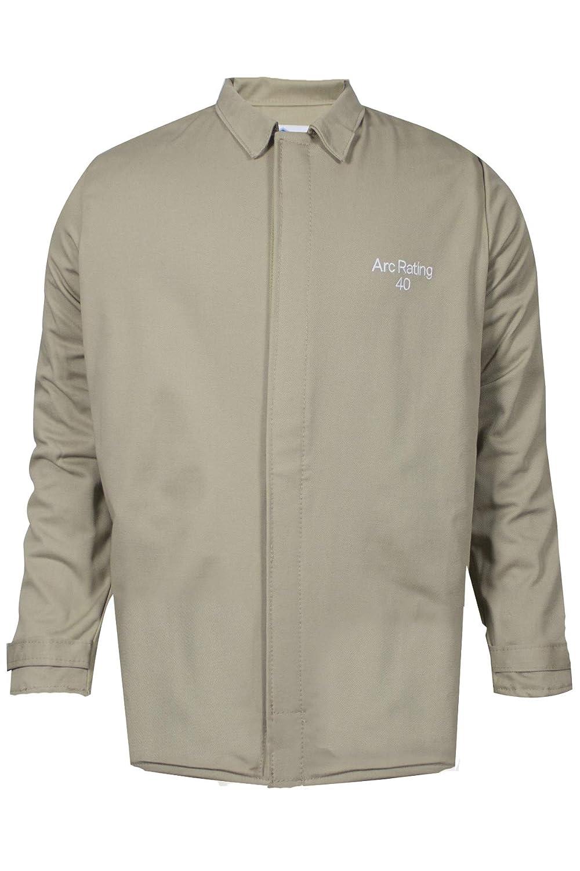 National Safety Apparel ArcGuard Economy Arc Flash Short Coat C07HKHKECLG32 Khaki Inc