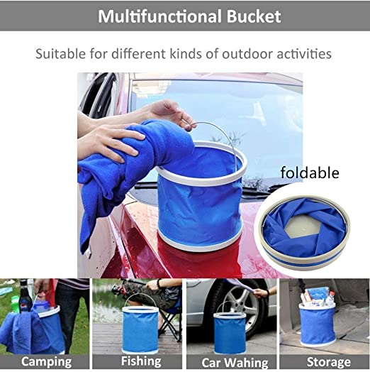 AUTODECO 22Pcs Car Wash Cleaning Tools Kit Car Detailing Set with Olive Green Canvas Bag Collapsible Bucket Wash Mitt Sponge Towels Tire Brush Window Scraper Duster Complete Interior Car Care Kit