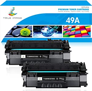True Image Compatible Toner Cartridge Replacement for HP 49A Q5949A 49X Q5949X 53A Q7553A Laserjet 1320 1320n 3390 1160 1320tn 1320nw 3392 P2015 P2015dn M2727nf M2727 (Black, 2-Pack)