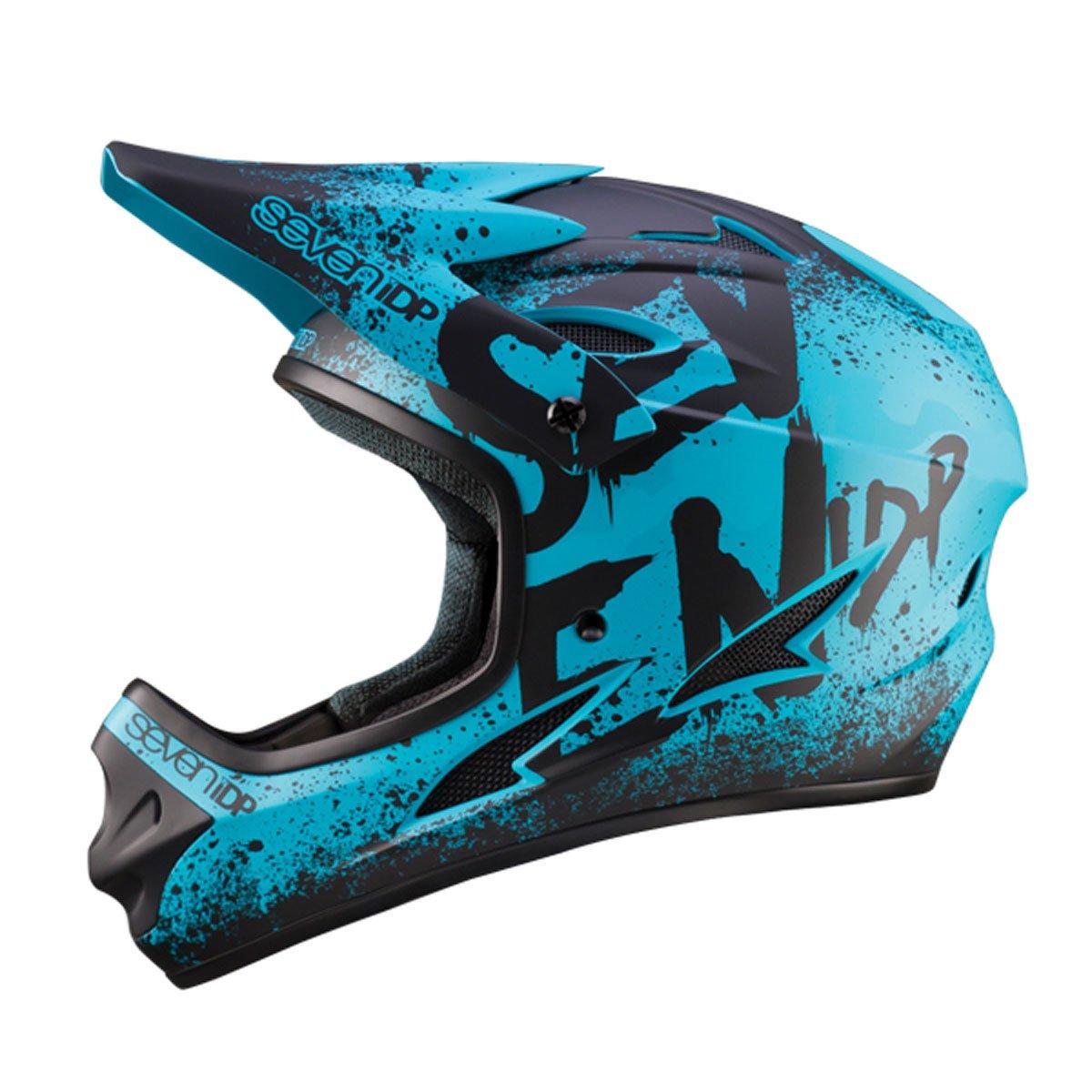 7プロテクション7iDP 2018 M1サイクリングヘルメット - 7706(グラデーションマットティール/ブラック - XL(60-62CM))   B075T7GT5H