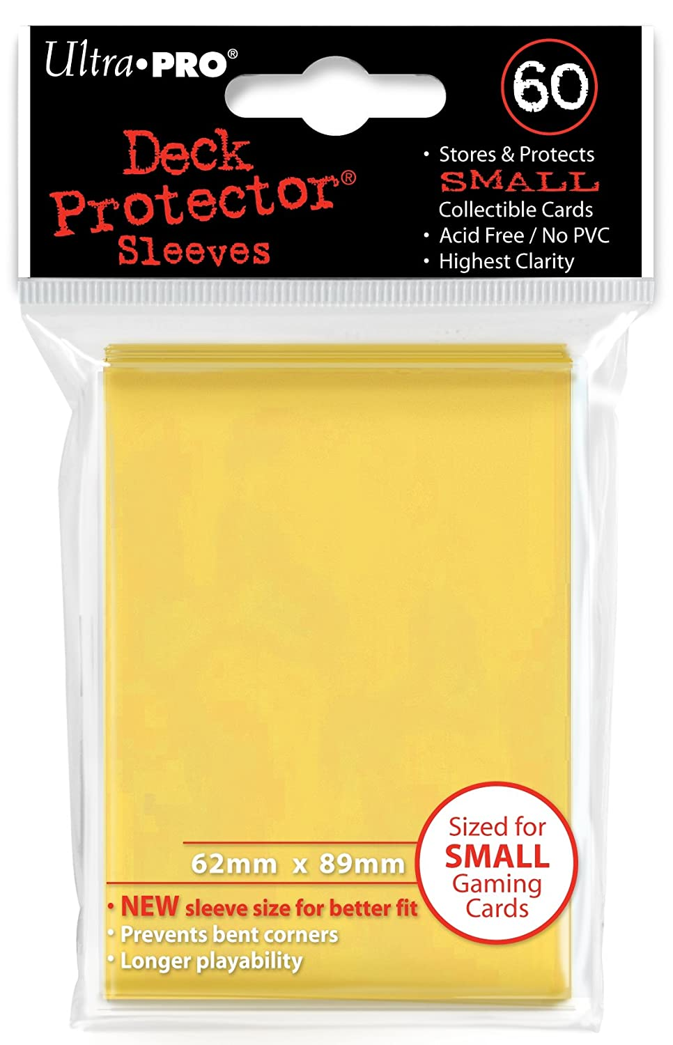 360 Ultra Pro Deck Protector Card Sleeves Pro Matte Yellow Small Yugioh