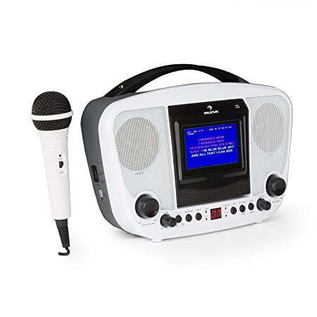 auna KaraBanga • Kinder Karaoke Anlage Set • Karaoke Player • Karaokeanlage • Bluetooth • 1 x dynamisches Mikrofon • CD+G-Pla
