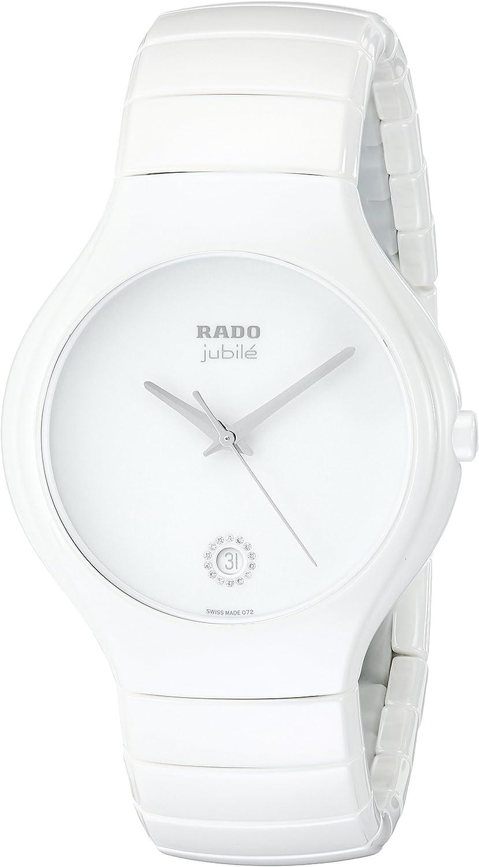 Rado Men s R27695722 True Jubile White Ceramic Bracelet Watch