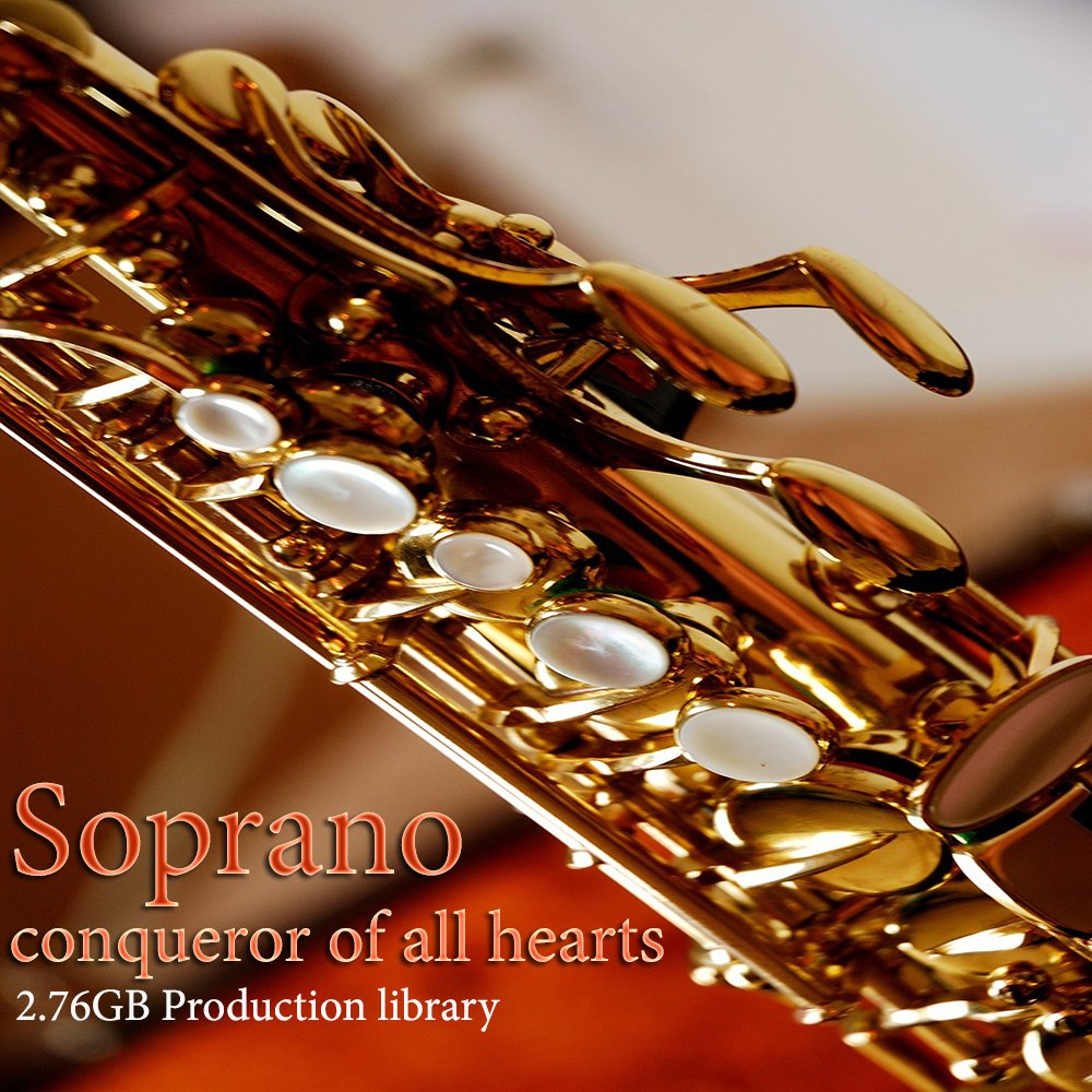 SAX-SOPRANO PLATINUM Collection - Large Sound Library WAVE Multi-Layer Samples 2,67GB on DVD or download by SoundLoad
