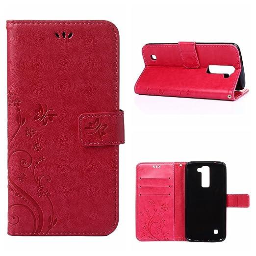 2 opinioni per MOONCASE LG K7 Custodia in pelle Protettiva Flip Cover per LG K7 Fiore Snap-on