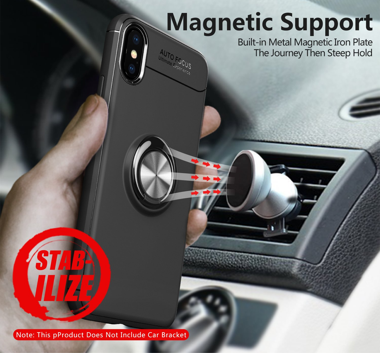 Rot iPhone 10 Handyh/ülle Ring Kickstand Silikon Cover 360 Grad Drehbarer St/änder Magnet Ring Sto/ßfest R/üstung Schutzh/ülle Bumper Tasche Case f/ür iPhone X,Schwarz Mosoris iPhone X H/ülle