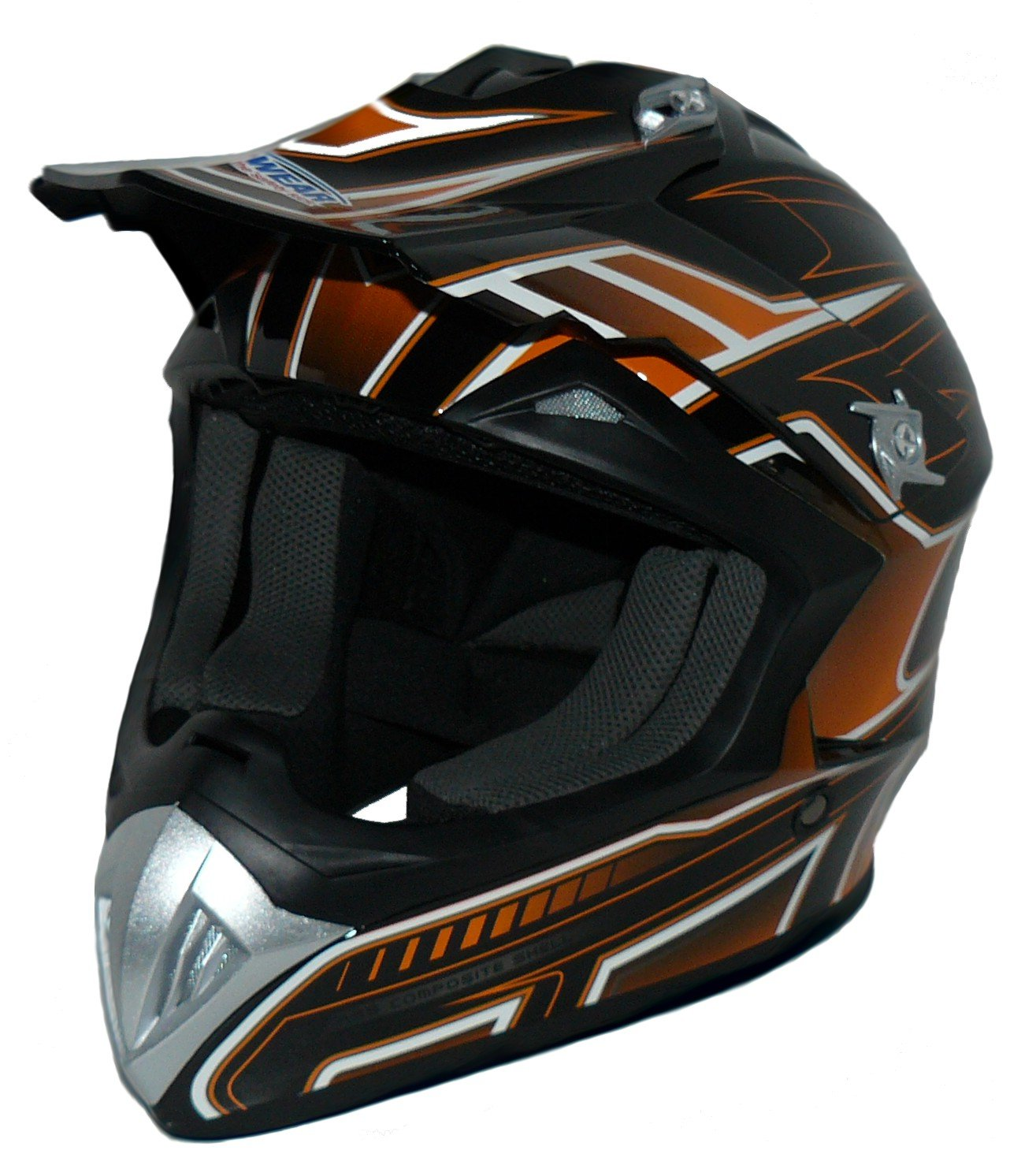 orange-noir casque de Cross FS603-OR casque Enduro Taille: XL Protectwear casque de moto
