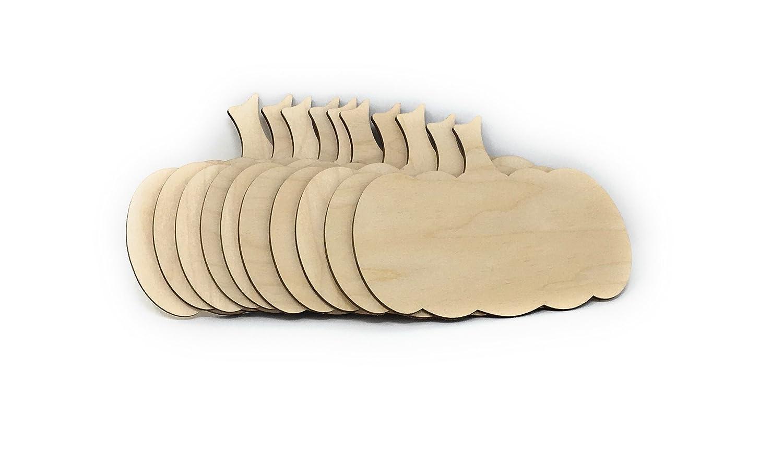 """Gocutouts Wooden Pumpkin Cutouts Baltic Birch Pumpkin Shapes (9"""" - Package of 10) Gocutouts.com"""