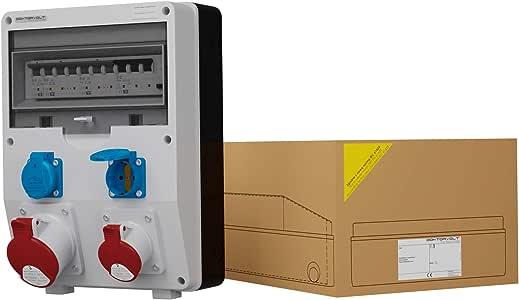 Doktorvolt® 1776 - Distribuidor de corriente DV TD-S/FI 1x32A 1x16A 2x230V IP54: Amazon.es: Bricolaje y herramientas