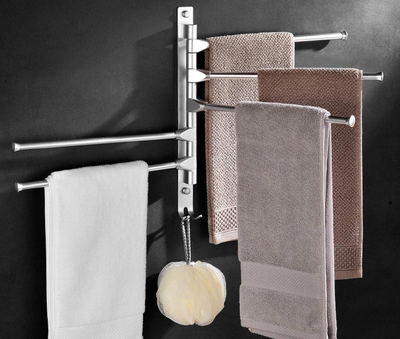 Soporte para Toallas de Cocina 6Winky Toallero Giratorio de Aluminio para ba/ño con 5 Barras giratorias Inodoro ba/ño