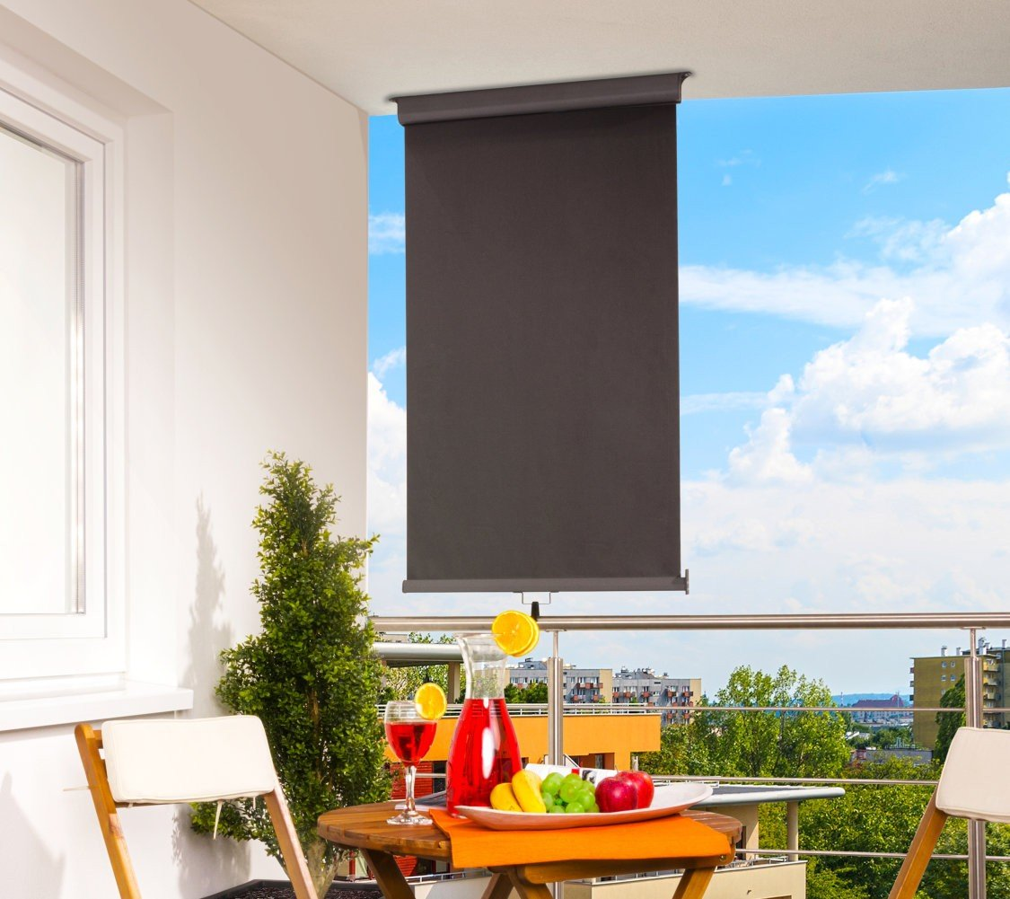 Polyester 80 X 300 Cm Horizontal Aluminium Balkon Sichtschutz