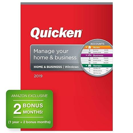 Quicken Home & Business 2019 Personal Finance Software 1-Year + 2 Bonus Months [