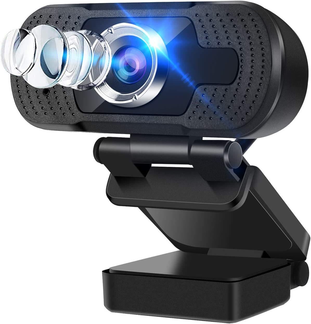 toberto Webcam with Microphone USB Webcams HD 1080P Computer Web Camera Desktop Laptop Webcams with Auto Light Correction Plug and Play for Online Classes YouTube Facebook