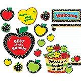 Creative Teaching Press Bulletin Board Set, Poppin' Patterns Back-to-School Apples (4711)