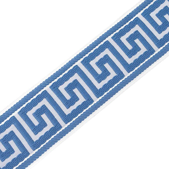 Price is for 2 yards Grey and White Greek Key Trim