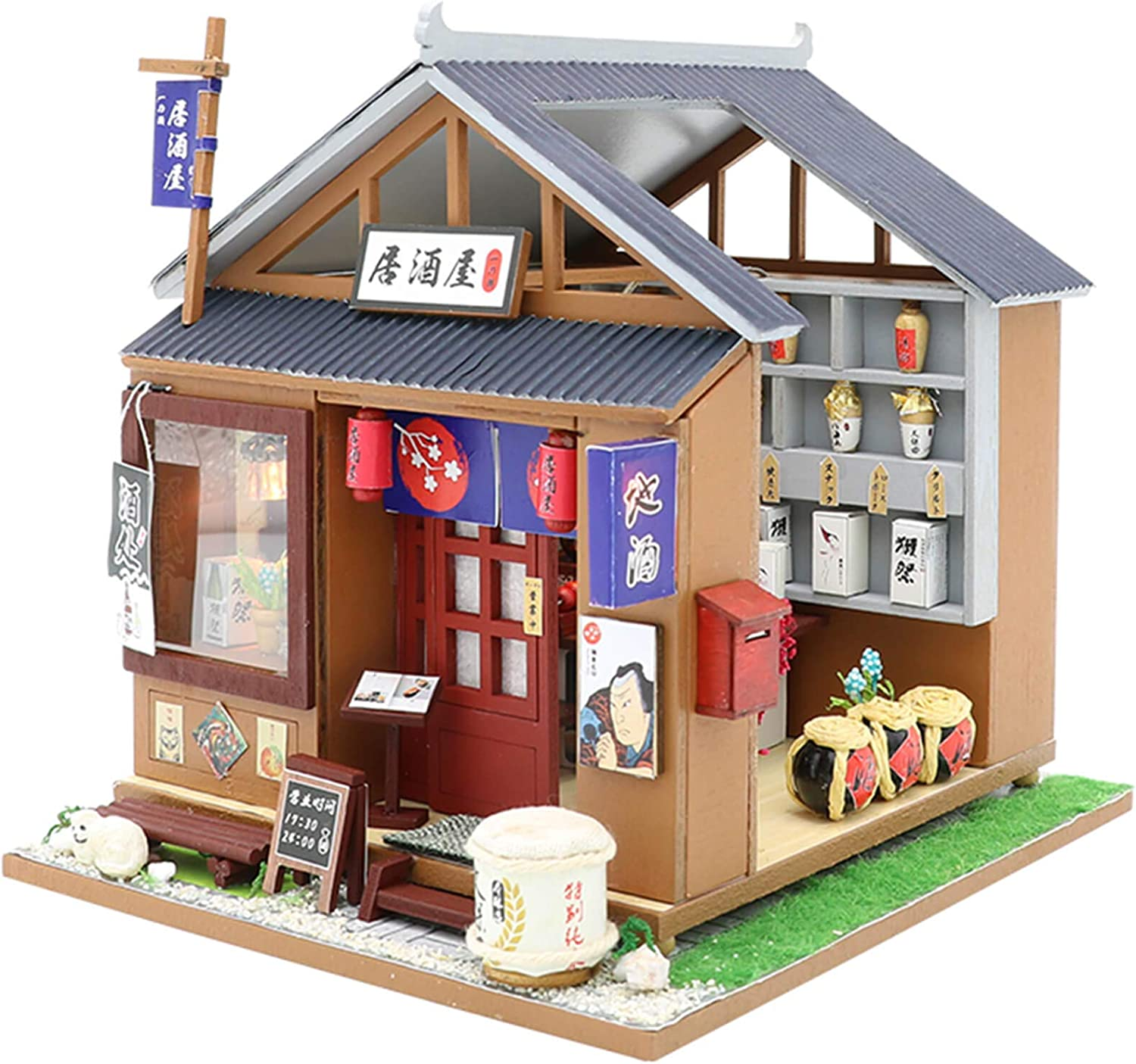 WADILE Dollhouses Wooden DIY Toys Kits Model Handmade Creative Gift Furniture Realistic and Suitable for Children Over 14 Years Old Or with The Help of Adults (7.87in6.3in6.3in, M037)