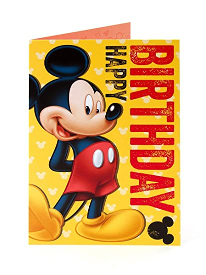 Image Unavailable Not Available For Color Disney Mickey Mouse Happy Birthday Card