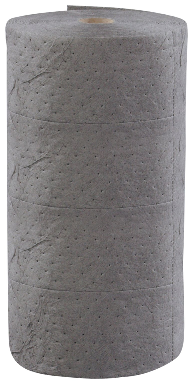 ESP 1MBGRB Polypropylene Heavy Weight Meltblown Maintenance Universal Absorbent Bonded Roll, 150' Length x 30'' Width, Gray