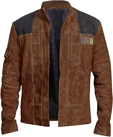 UGFashions Han A Star Story Solo Costume Light Brown Suede Leather Wars Jacket