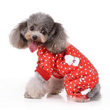 Amazon.com: RYPET - Pijamas de Navidad para perro, diseño de ...
