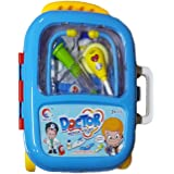Trolly Doctor set With Light & Sound Effects with Suitcase Toy for Child(HCCD ENTERPRISE) (BLUE)