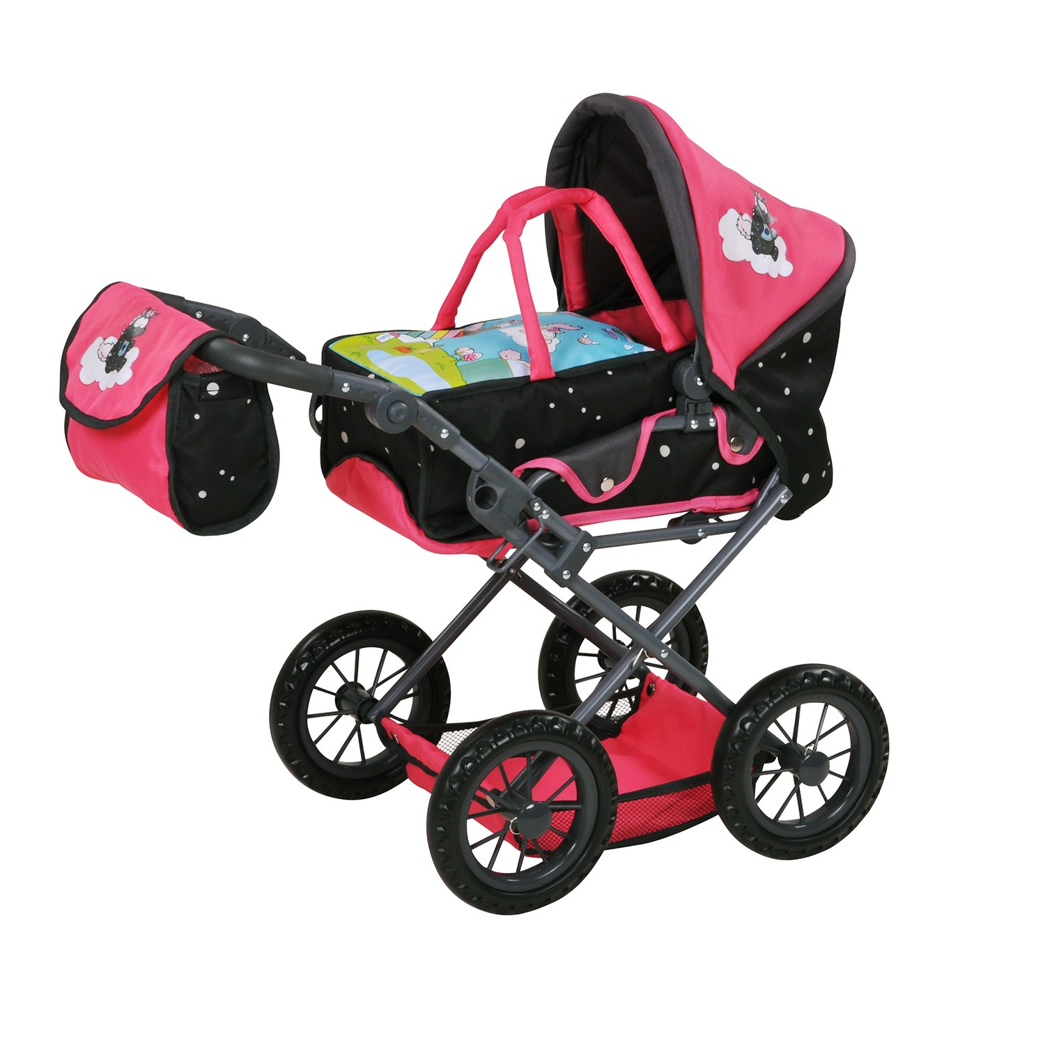 Knorr Toys 80211 Knoortoys Theodor Carbon - Doll Carriage Ruby, Multicoloured   B07DLMZTDP