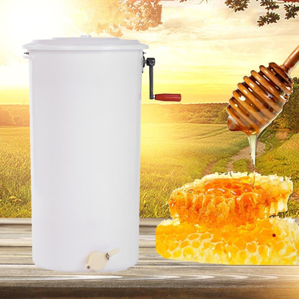 GOTOTOP Extracteur de Miel Manuel à 2 Cadres en Plastique de Qualité Alimentaire 40x72cm pour Apiculture Apiculteur