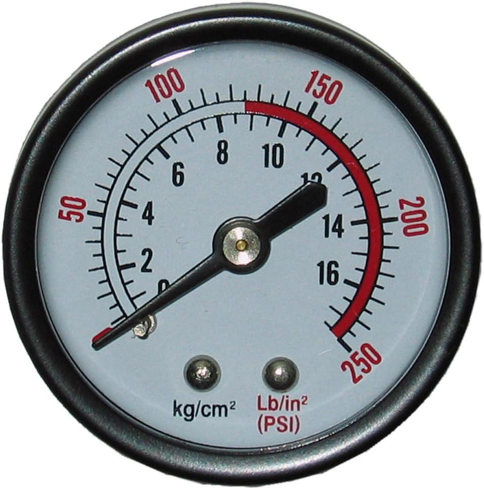"2-1//2/"" Pressure Gauge 1000 PSI Black Steel Case Lower Side Mnt 1//4/""NPT"