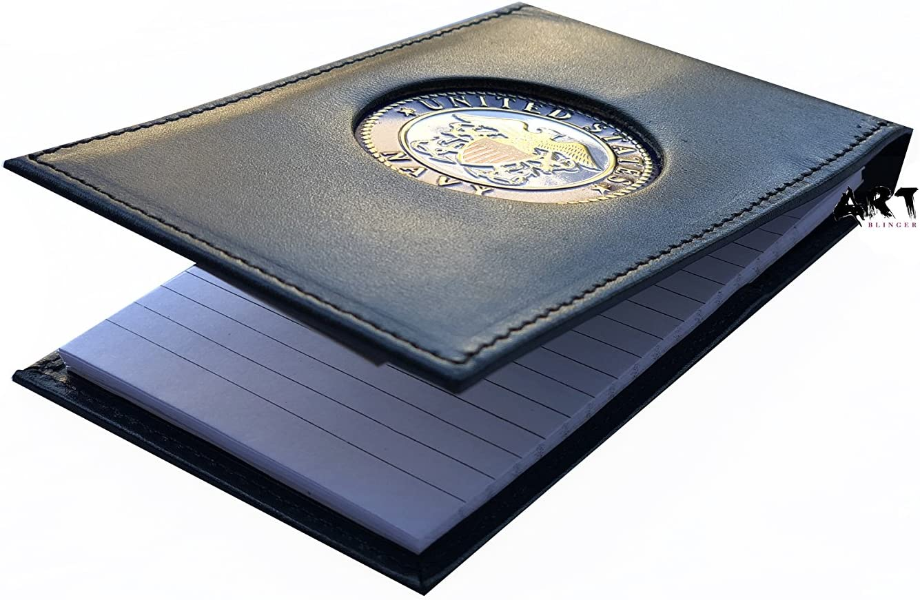 The Official Writing Pad, US Navy Spiral Notebook Case with Medallion - 3