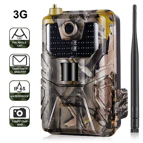 Cámara de caza 3G 2G Cámara de vigilancia de vida silvestre 16MP ...