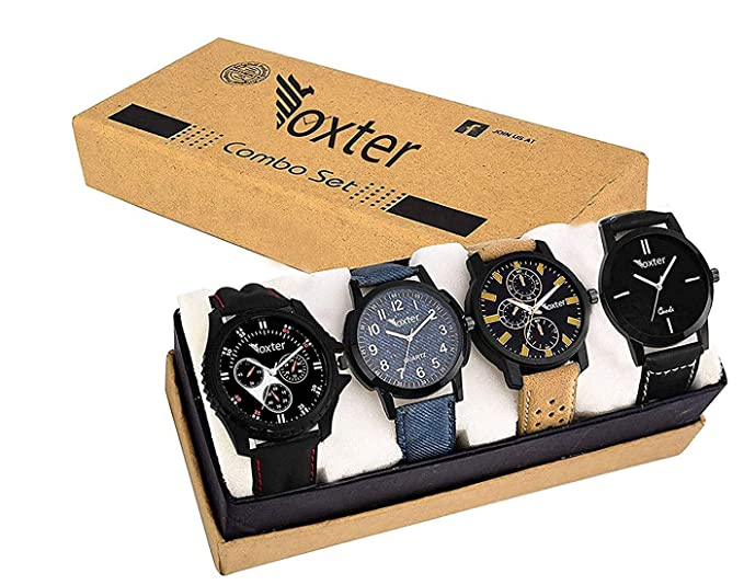 Combo of 4 Analogue Multicolor Dial and Stylish Balt Men's and Boy's Watch