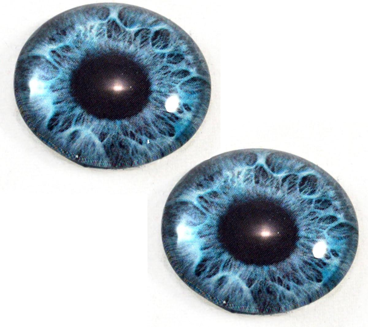 Par de ojos de fantas/ía de sirena de cristal humano de 30 mm esculturas muebles fabricaci/ón de joyas taxidermia y m/ás m/áscaras color azul menta para mu/ñecas art/ísticas accesorios