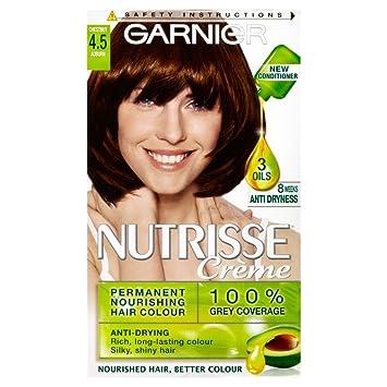 Garnier Nutrisse 4.5 Auburn Red Permanent Hair Dye: Amazon.co.uk ...