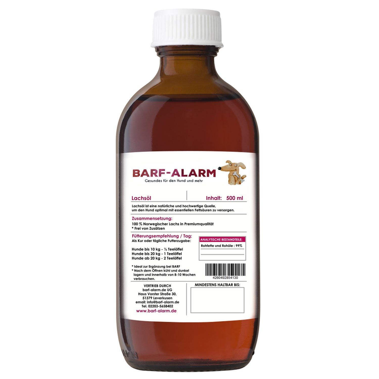 barf-alarm Premium Lachsöl für Hunde mit Omega 3 und Omega 6 ...