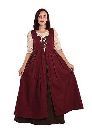a424c5aee1 Amazon.com  byCalvina - Calvina Costumes Bella Medieval Viking LARP Pirate  Renaissance Dress Overdress - Made in Turkey  Clothing