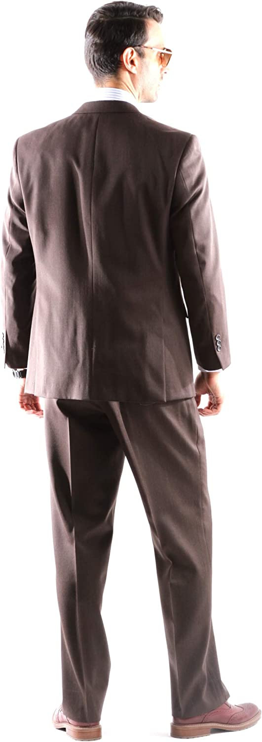 Mens Single Breasted 2 Button Super 120s Merino Wool Suit