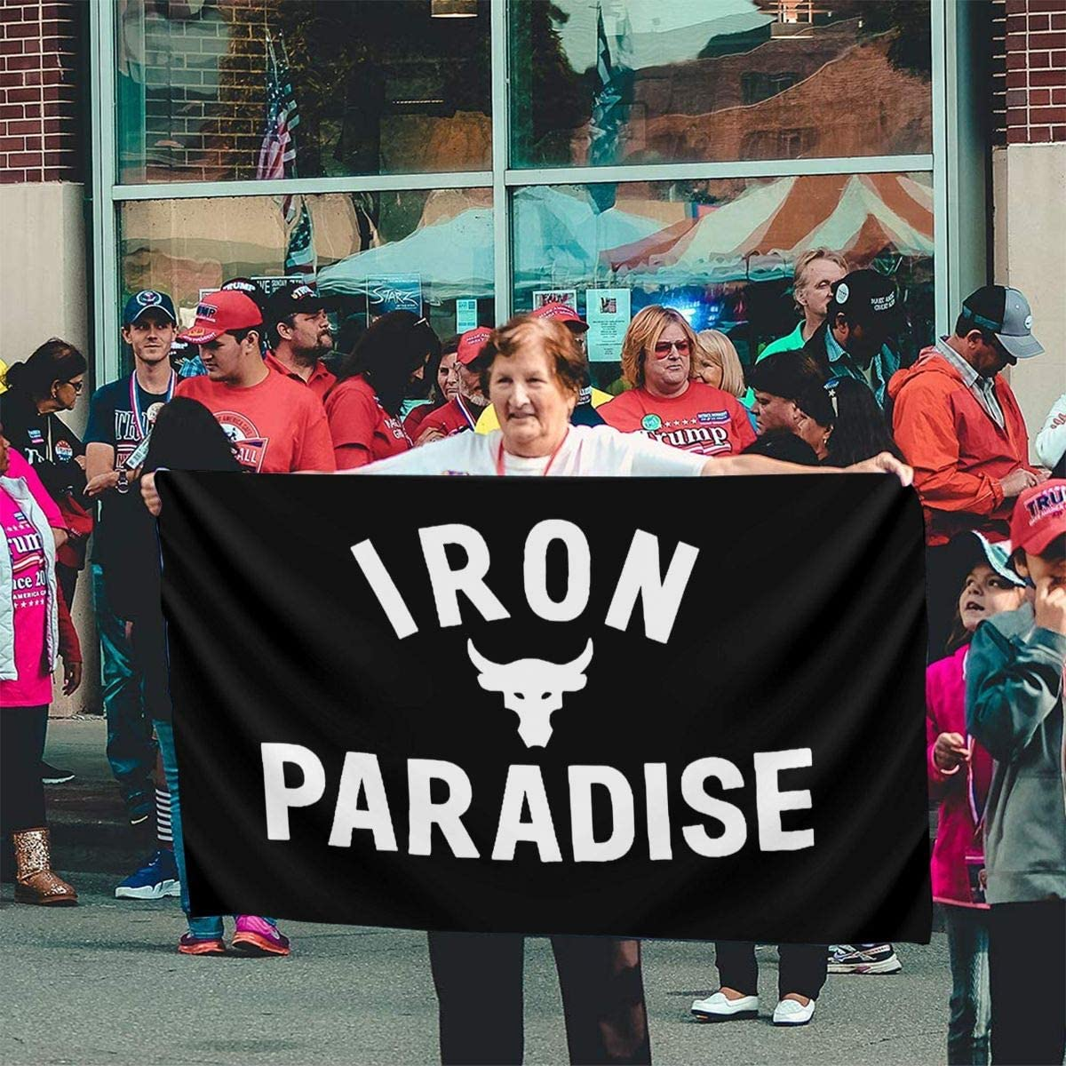 Iron Paradise Home Garden Flag Polyester Flag Indoor//Outdoor Wall Banners Decorative Flag 3x5 Foot
