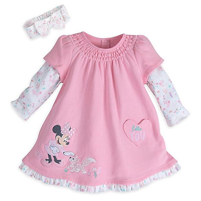 Amazon.com: Disney Minnie Mouse – Vestido de punto para bebé ...