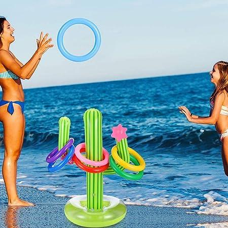 raspbery 5 Piezas de Cactus Inflable Juego de Juego de tiros para niños, Juego Inflable de