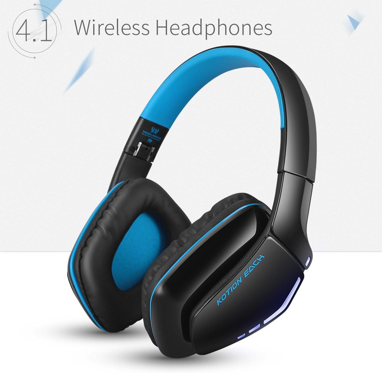 Auriculares Bluetooth ZaKitane KOTION EACH B3506 para PS4, XBOX, ONE S, inalámbricos, plegables, V4.1, con micrófono, para Playstation 4 PC, Mac, smartphones, ordenadores: Amazon.es: Electrónica