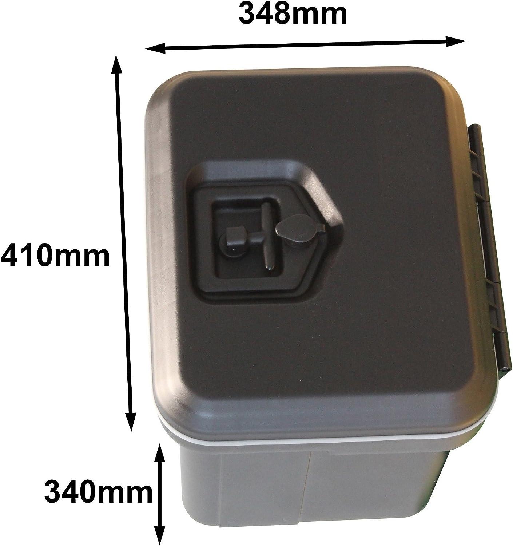 contenitore in plastica auto rimorchio roulotte strumento Truckbox Daken CABV81000//410BP piccolo blocco resistente esterno resistente all acqua
