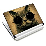 """ICOLOR Laptop Skin Sticker Soft Vinyl Decal Cover for 12.1"""" 13.3"""" 14.1"""" 15.4"""" 15.6 inch Sony HP Asus Acer Toshiba Dell Notebook Sunglass Cat"""