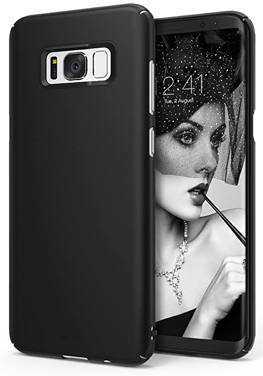 premium selection 51494 b22c0 Ringke Slim Compatible with Galaxy S8 Case Dazzling Slender Laser Precision  Cutouts Fashionable Superior Steadfast Bolstered PC Hard Skin Cover for  Galaxy ...