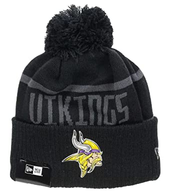 5148e4573 New Era - Minnesota Vikings - Beanie - NFL 2017 Black Collection - Black